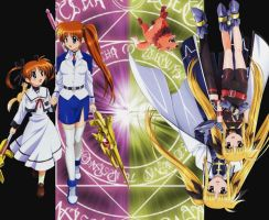 Nanoha and Fate by Kaere
