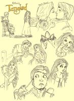 Tangled Sketch Dump by Pinkie-Perfect