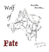 Wolf of Fate Doodle by CrossHound213