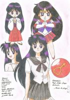 Sailor Mars is Rei by Niisai