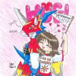 OldSchool - Flamedramon_girl by Doublevisionary