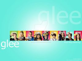 Blue Glee Wallpaper by dgraphicrookie