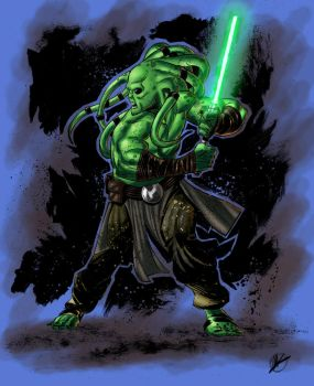 Kit Fisto - colors by ZethKeeper