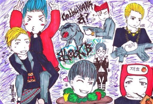 Block B FanArt 'VeryGood' era by clera02