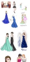 A very Prom-ish Sketch Dump by DreamerWhit