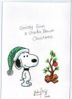 Snoopy Christmas Card by johnnyism