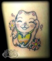Lucky Cat by state-of-art-tattoo