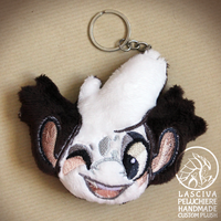 Wally the Bagbean custom plush keychain by Peluchiere