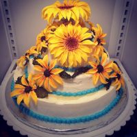 sunflower cake by NicoleHansche