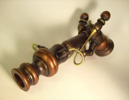 Steampunk Old Vic Ray Gun by buildersstudio