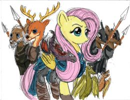 Fluttershy - Mother of Dragons (Rough Concept) by TheLivingShadow