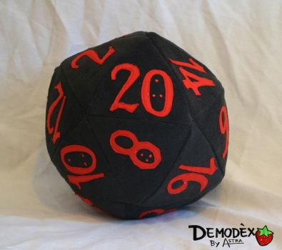 D20 plush by DemodexPlush