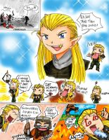 Legolas and Gimli comic by wingfoot