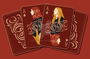 MOON playing card by Plazmakeks