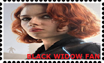 Black Widow Stamp by WOLFBLADE111