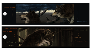 Wolf bookmark Temp by Blackpassion777
