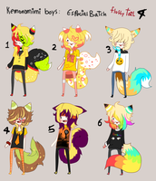 Kemonomimi - SPECIAL BATCH 4 - Yellow BOYS -CLOSED by Ayuki-Shura-Nyan