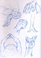 Croquis Mains-Hand sketches 2 by CatherineSteuer