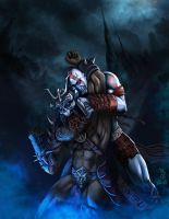 kratos vs shaokhan by angelcanohn