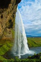 Waterfall Seljalandsfoss II by amrodel