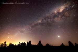 Milky Way and Venus 5th October 2013 by didyabringyagrog