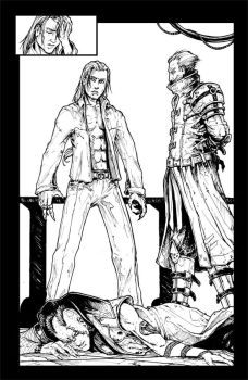 Bloodlust 3., page 4 - ink by BloodlustComics