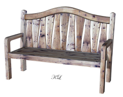 Old wooden bench PNG_KL_Cactuskim by cactuskim