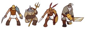 Gladiators characters finalized version by Riverlimzhichuan