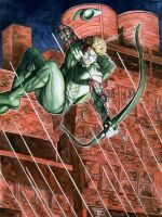Green Arrow Into The Fray by Meador
