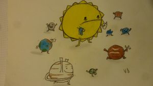Solar System by ValentineDel