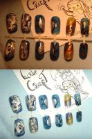 nail art craft my little pony CELESTIA NAILS etsy by MesiaszCiszy