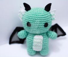 green dragon plush by tinyowlknits