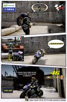 Yamaha M1 2014 + Valentino Rossi's Leathers by emmag213