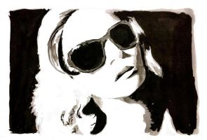 woman with shades by farmerfren