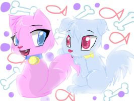 Pup and Kit -AT- C: by Tammy10