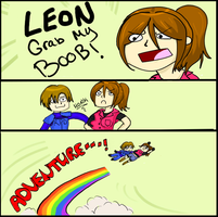LEON GRAB MY BOOBS by RikaZombie