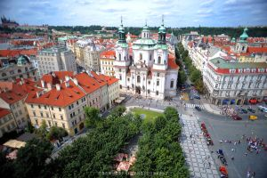 Prague From Above by drewhoshkiw