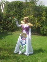 Zelda Cosplay 3 At Garden by BluePandora09