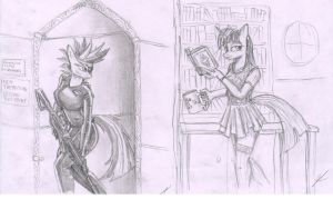 MLP anthro practice - Twilight Sparkle by metalfoxxx