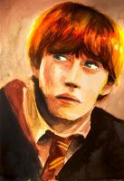 Rupert Grint as Ron Weasley by natarya-chan