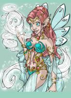 Fairy Queen Colored by MiraElizabeth