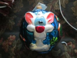 Christmas Gift: Pinky And the Brain Radko ornament by renthegodofhumor