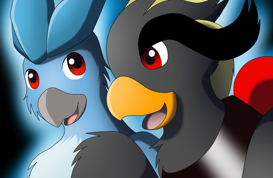 Ciel And Articuno by Avianine