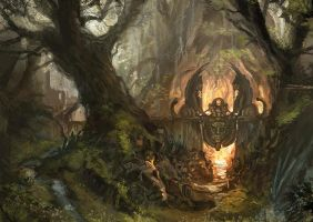 OSMADTH - Thousand Leaf Woods I by flaviobolla