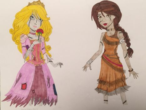 Girls as Zombie Princesses 2 by madiquin185