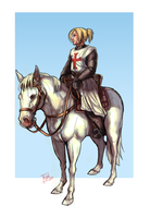 Scarlet Cross: Jeremias on a horse by Wulfgnar