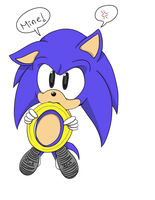 Request: Chibi Sonic (Colored Ver.) by RefractiveIllusion