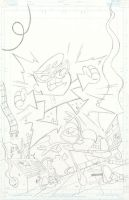 Dexter's Lab issue 1 cover pencils by RyanJampole