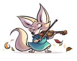 Fennec Violinist by PuddlesOfCuddles