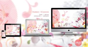Summer Glasses / Wallpaper by Mademoiselle-Pixelle